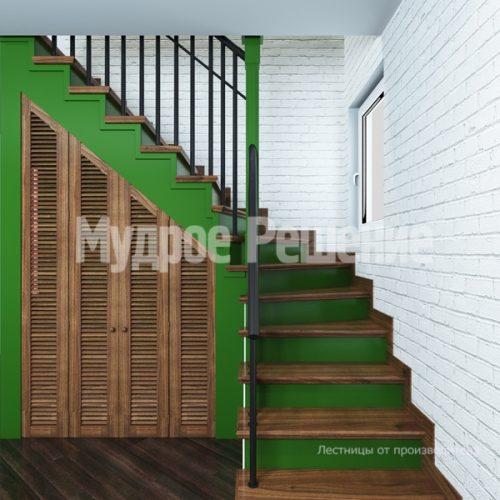 Деревянная лестница-41