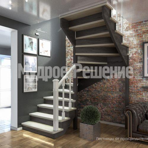 Деревянная лестница-42