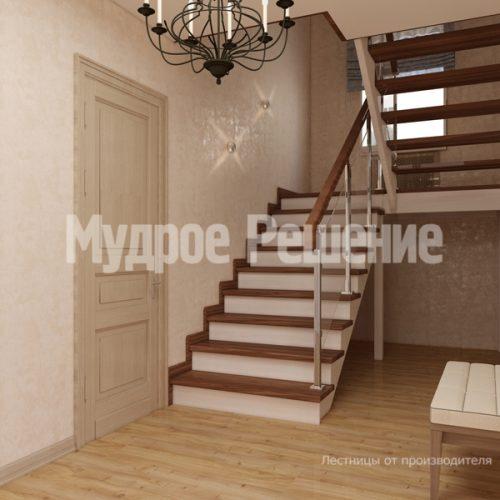Деревянная лестница-43