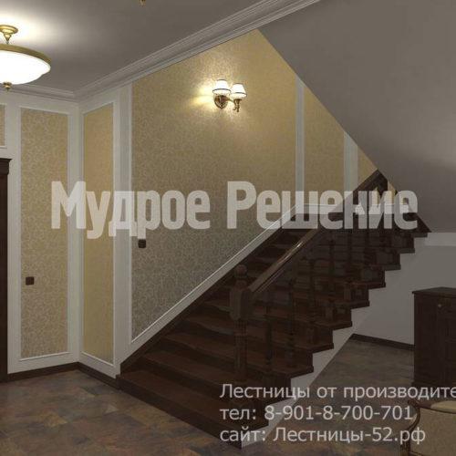 Бетонная широкая лестница