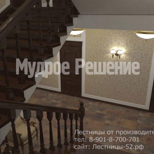 Бетонная широкая лестница вид 2