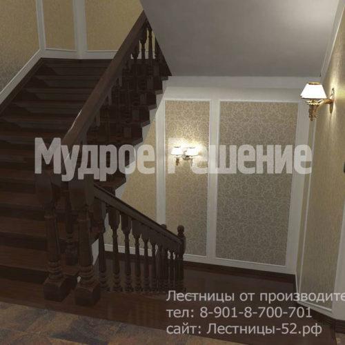 Бетонная широкая лестница вид 3