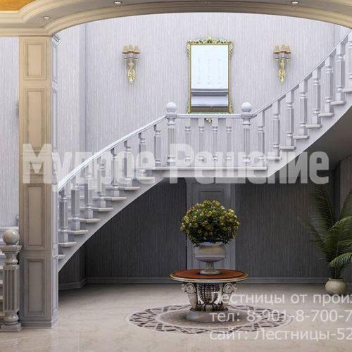 Бетонная изящная лестница вид 1