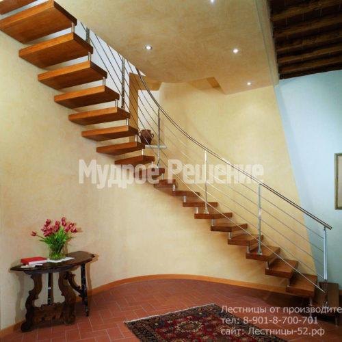 Винтовая лестница на больцах вид 1