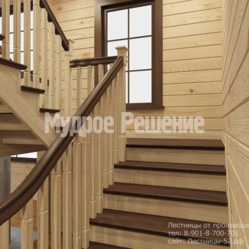 Контрастная лестница на второй этаж вид 4