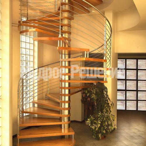 Изящная винтовая лестница вид 1