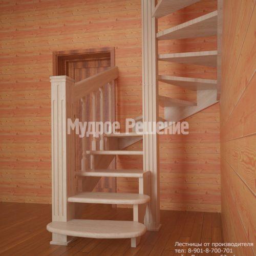 Светлая винтовая лестница