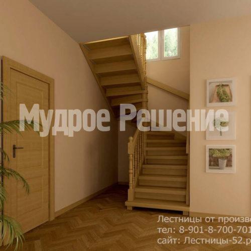 Винтовая лестница модель 8 вид 1