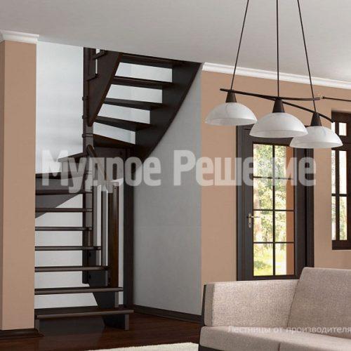 Деревянная лестница-46