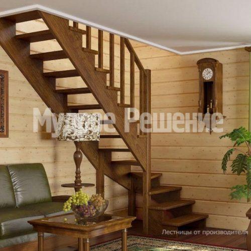 Деревянная лестница-50