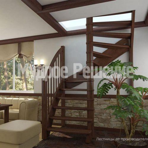 Деревянная лестница-54