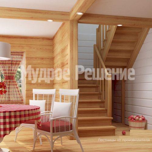 Деревянная лестница-55