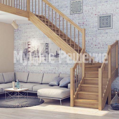 Деревянная лестница-58