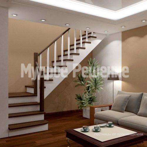 Деревянная лестница-62