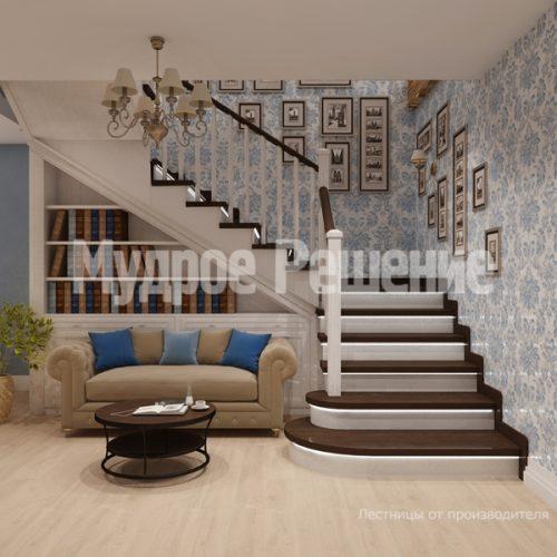 Деревянная лестница-63