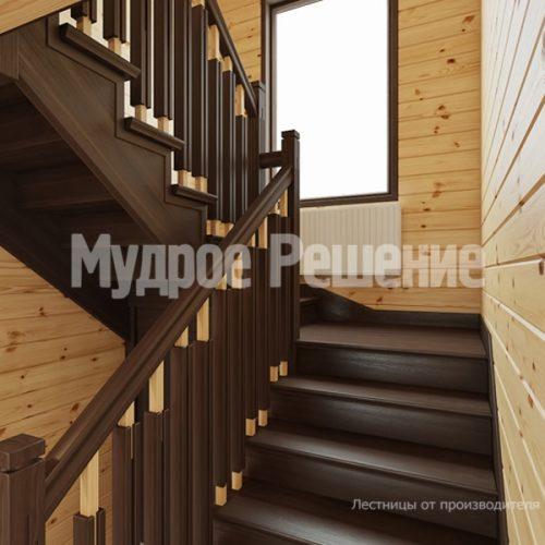 Деревянная лестница-65