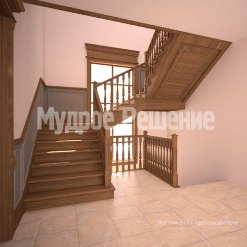 Деревянная лестница-66