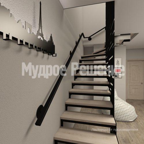 Металлическая лестница-9