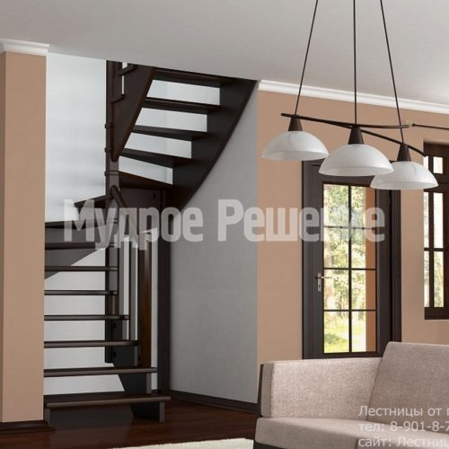 Деревянная винтовая лестница на заказ