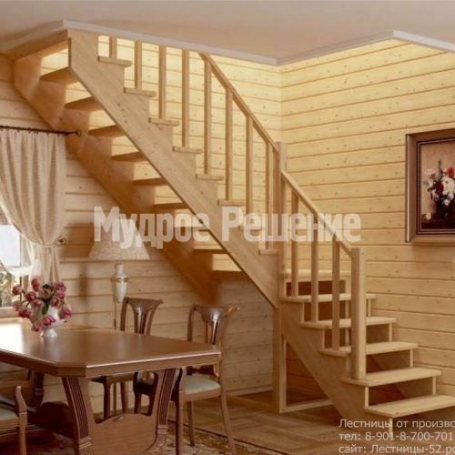 Деревянная лестница Г образная