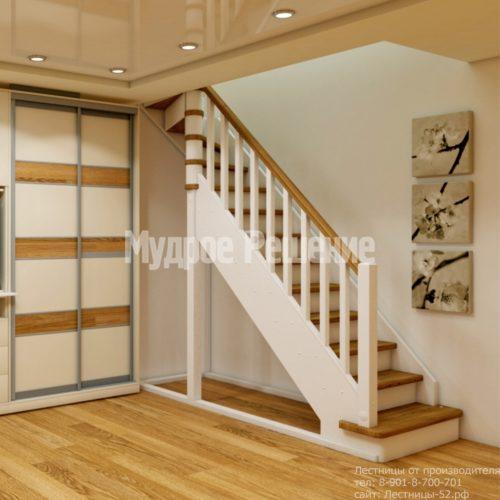 Деревянная лестница на второй этаж на заказ