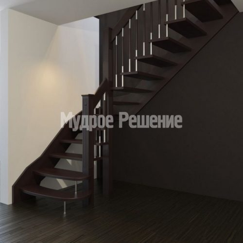 Лестница на больцах на второй этаж на заказ вид 1