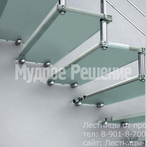 Лестница на больцах на второй этаж металлическая вид 2