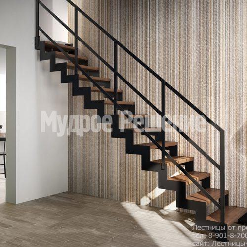 Металлическая черная лестница на заказ