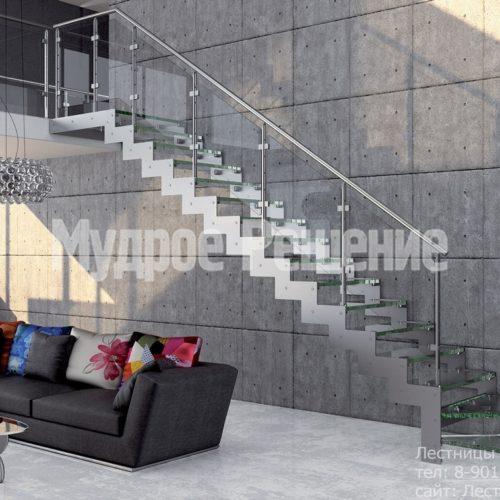 Металлическая лестница на заказ Г образная