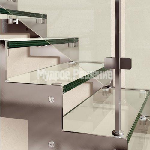 Металлическая лестница на заказ Г образная вид 2