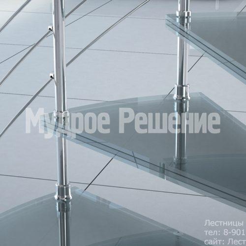 Винтовая лестница компактная на второй этаж на заказ вид 3