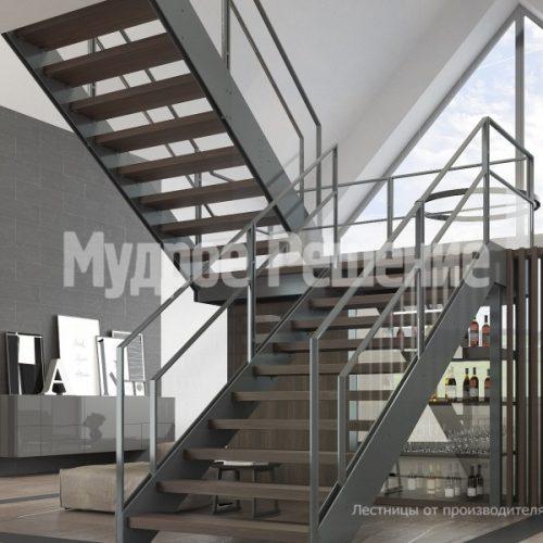 Металлическая лестница-41
