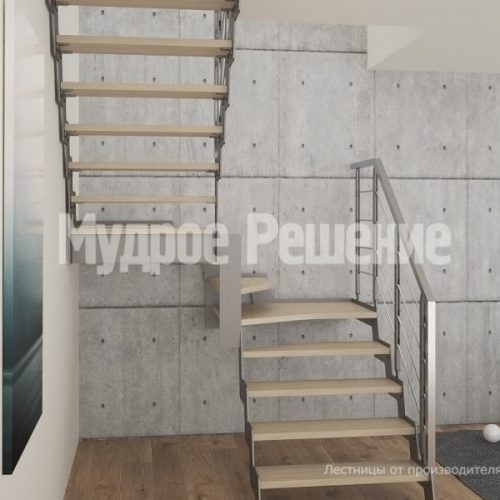 Металлическая лестница-46
