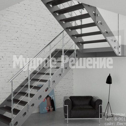 П образная лестница из металла на заказ