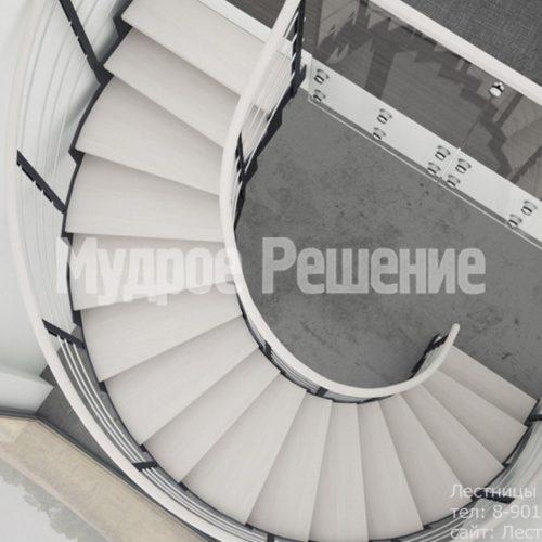 Винтовая лестница на металлокаркасе 2