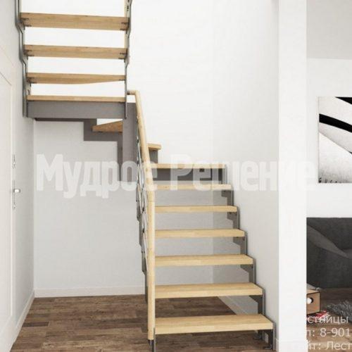 Лестница на металлокаркасе в стиле лофт 2