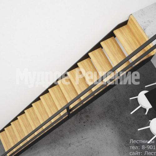 Прямая лестница на металлокаркасе
