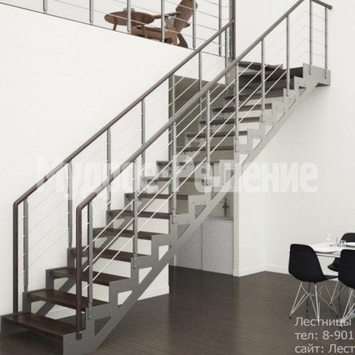 Прямая лестница из металла на заказ 3