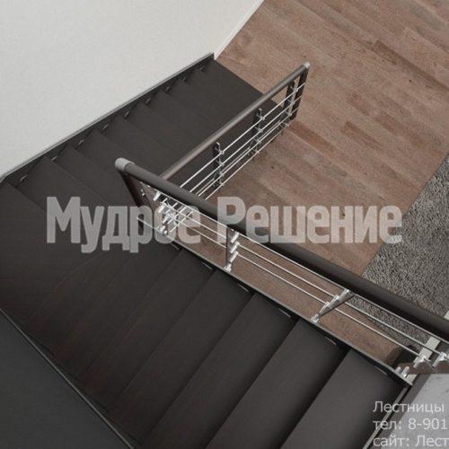 Стальная лестница на металлокаркасе 2