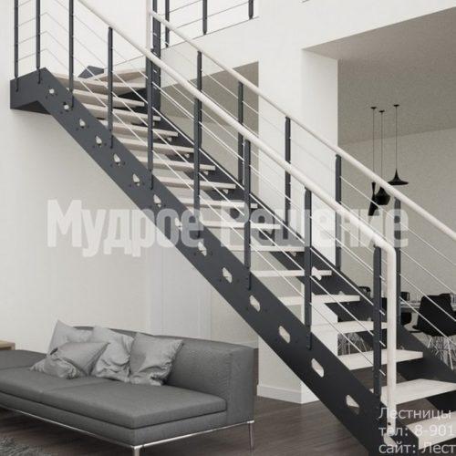Г образная лестница из металла на заказ