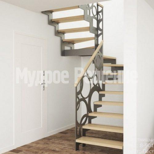 Лестница на металлокаркасе в стиле лофт