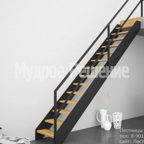 Прямая лестница на металлокаркасе 2