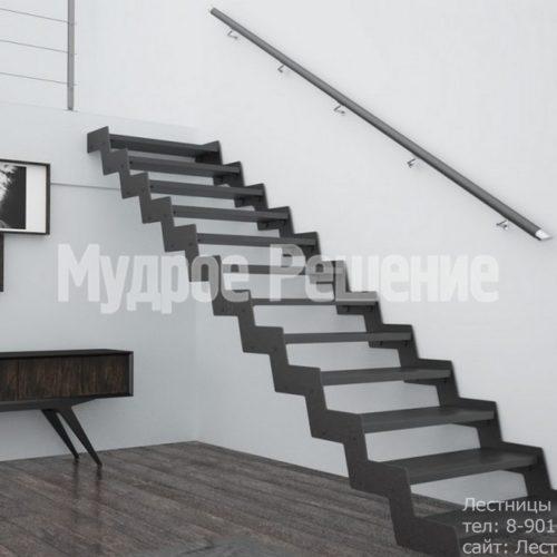 Прямая металлическая лестница вид 2