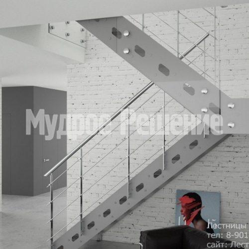 П образная лестница из металла на заказ 2