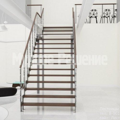 Открытая лестница на металлокаркасе 2
