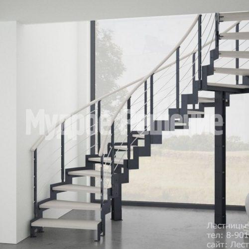 Винтовая лестница на металлокаркасе 3
