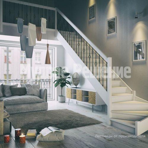 Деревянная лестница-68