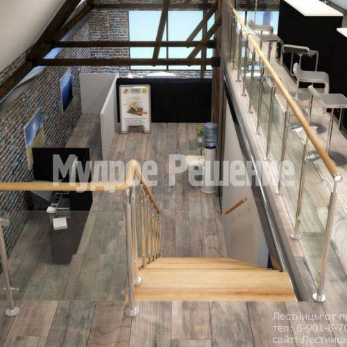 Деревянная лестница на монокосуаре 2