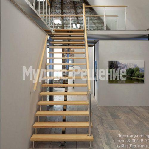 Деревянная лестница на монокосуаре 3