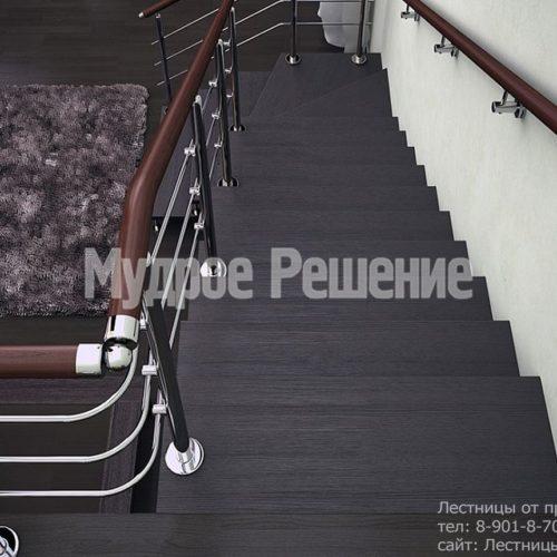 Лестница на монокосуаре на второй этаж 4